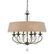 Cal Lighting Dawson 6 Light Chandelier