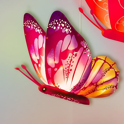 Kreativ Lighting Buddylitez Butterflies 1-Light Pendant WYF078279183598