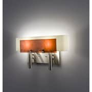 WPT Design Dessy 2 Light Wall Sconce; Mosaic Green / Flat Back White