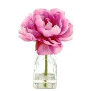 LCGFlorals Peony in a Glass Jar with Faux Water