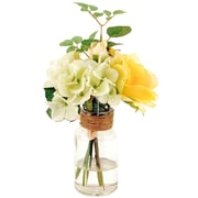 LCGFlorals Hydrangeas in a Glass Jar with Faux Water
