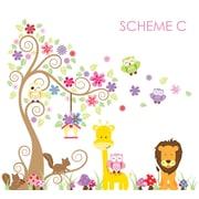 Wall Decal Source Swirly Tree, Jungle, Owl and Giraffe Nursery Wall Decal; Scheme C