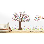 Wall Decal Source Tree and Owl Nursery Wall Decal; Scheme A