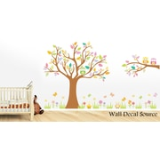 Wall Decal Source Tree and Owl Nursery Wall Decal; Scheme C