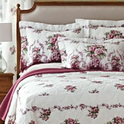 PDK Worldwide Bloomfield Rose Mitered Corner Bedspread; King