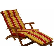 Blazing Needles Soft Home Furnishings Outdoor Chaise Lounge Cushion; Monytserrat Sangria