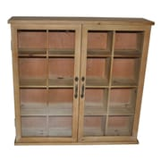 Cheungs Wood Storage Cabinet with Glass Doors