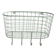 Cheungs Metal Oval Hanging Basket with 4 Hooks