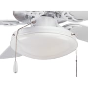 Progress Lighting AirPro Two Light Round Indoor or Outdoor Ceiling Fan Light Kit; White