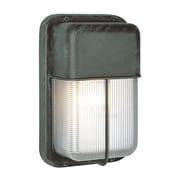 TransGlobe Lighting TGL 1 Light Outdoor Flush Mount; Satin Aluminum