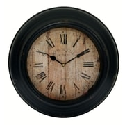 Cheungs 14.5'' Functioning Wall Clock; Black