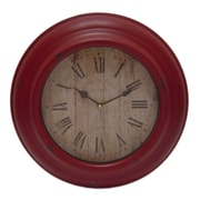 Cheungs 14.5'' Functioning Wall Clock; Red