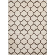 Rugs America Brooklyn Ivory/Brown Area Rug; Runner 2'3'' x 7'10''