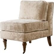 Iconic Home Gandhi Front Castered Leg Slipper Chair; Beige