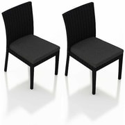 Harmonia Living Urbana Dining Side Chair w/ Cushion (Set of 2); Canvas Charcoal