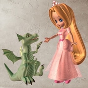 Style and Apply Drangon and the Princess Wall Decal; 24'' H x 24'' W