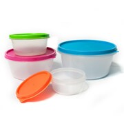Sweet Home Collection 8-Piece BPA Free Plastic Food Storage Container Set