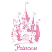 Borders Unlimited Pink Castle Appliqu  Wall Decal