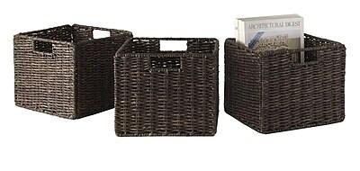 Luxury Home Granville Corn Husk Foldable Basket (Set of 3) WYF078278545989