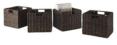 Luxury Home Granville Corn Husk Foldable Basket (Set of 4) WYF078278545990