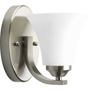 Progress Lighting Adorn 1 Light Bath Sconce; Brushed Nickel