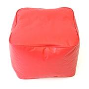 Gold Medal Bean Bags Medium Ottoman; Red