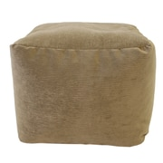 Gold Medal Bean Bags Medium Corduroy Ottoman; Toast