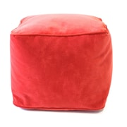 Gold Medal Bean Bags Medium Corduroy Ottoman; Flame Red