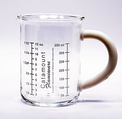 Catamount Glass Glass Measuring Cup w/ Handle; White WYF078278938478