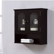 RunFine Group 23.6'' W x 23.6'' H Wall Mounted Cabinet; Espresso