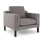 Kardiel Monroe Mid Century Modern Arm Chair; Deco Grey