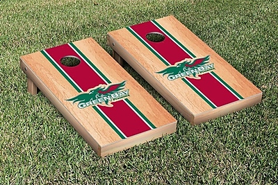 Victory Tailgate NCAA Hardcourt Striped Version Cornhole Game Set; Wisconsin Green Bay Phoenix WYF078278876107