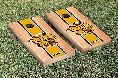 Victory Tailgate NCAA Hardcourt Striped Version Cornhole Game Set; Arkansas Pine Bluff Golden Lions WYF078278876229
