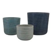 Woodland Imports Adriel 3 Piece Rattan Basket Set
