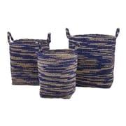 Woodland Imports Cyprus 3 Piece Seagrass Basket Set