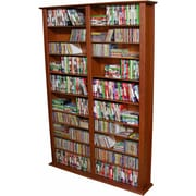 Venture Horizon VHZ Entertainment Large Double Multimedia Storage Rack; Cherry