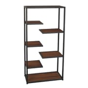 Cheungs Metal and Wood Open Storage 39.7'' H Five Shelf Shelving Unit