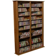 Venture Horizon VHZ Entertainment Large Double Multimedia Storage Rack; Dark Walnut
