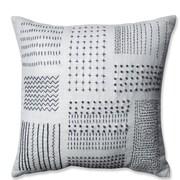 Pillow Perfect Tribal Sampler Cotton Throw Pillow; Cream/Gray
