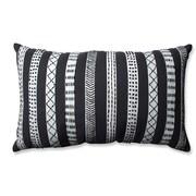 Pillow Perfect Tribal Bands Cotton Lumbar Pillow; Cream/Gray/Black