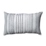 Pillow Perfect Tribal Stitches Cotton Lumbar Pillow; Cream/Gray