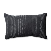Pillow Perfect Tribal Stitches Cotton Lumbar Pillow; Dark Melange /Gray