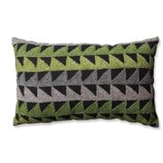 Pillow Perfect Samba Cotton Lumbar Pillow; Green/Gray/Black