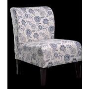 NathanielHome Khloe Floral Parsons Chair; Blue
