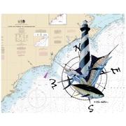 Magic Slice Carolina Lighthouse by Steve Whitlock Non-Slip Flexible Cutting Board