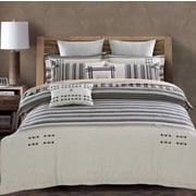 Lifestyle Bedding Solutions Bayadere 3 Piece Duvet Cover Set; King