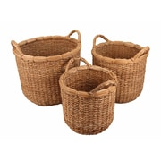 Cheungs 3 Piece Seagrass Round Storage Basket Set
