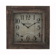 Cheungs 11'' Wood Square Clock