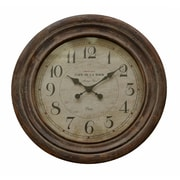 Cheungs 26.5'' Round Wood Wall Clock