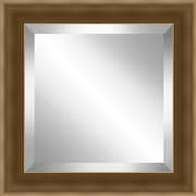 Ashton Wall D cor LLC Framed Beveled Plate Glass Mirror; Brushed Gold